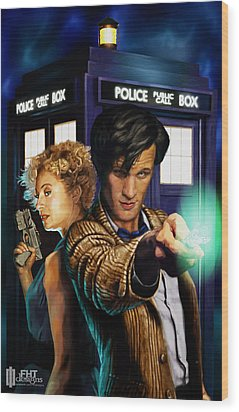 Doctor Who Wood Print by FHT Designs