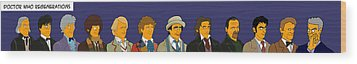 Doctor Who Full 12 Series Wood Print by Donna Huntriss