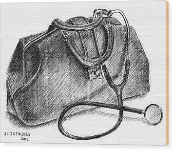 Doctors Bag Wood Print