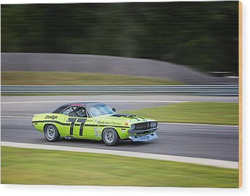 Dodge Challenger Wood Print by Bill Wakeley