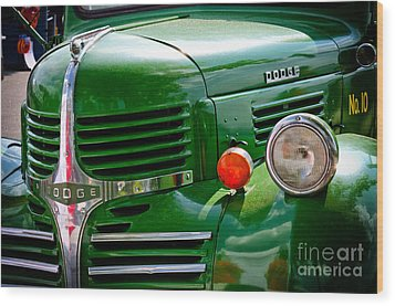 Dodge Truck Wood Print by Les Palenik