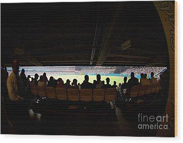 Dodger Stadium 2 Wood Print by Micah May