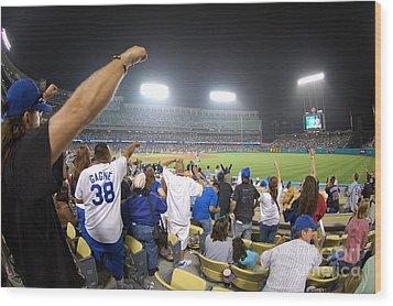 Dodger Stadium 3 Wood Print by Micah May