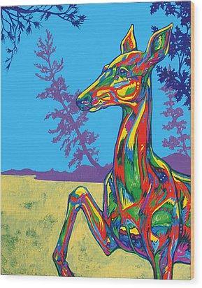 Doe Wood Print by Derrick Higgins