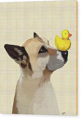 Dog And Duck Wood Print by Kelly McLaughlan