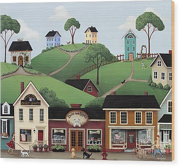 Dog Days Of Summer Wood Print by Catherine Holman