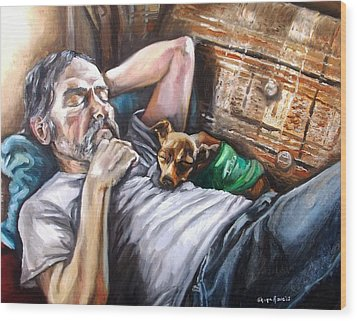 Dog Days Wood Print by Shana Rowe Jackson
