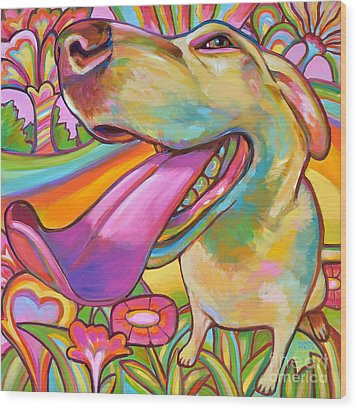 Wood Print featuring the painting Dog Daze Of Summer by Robert Phelps