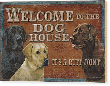 Dog House Wood Print by JQ Licensing
