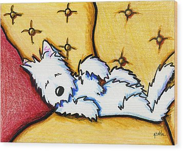 Dog Napped Wood Print