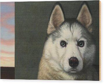 Dog-nature 9 Wood Print by James W Johnson