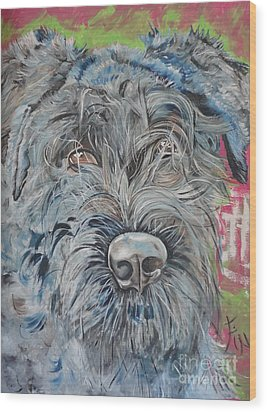 Dog Of Flanders The Bouvier Wood Print by PainterArtist FIN