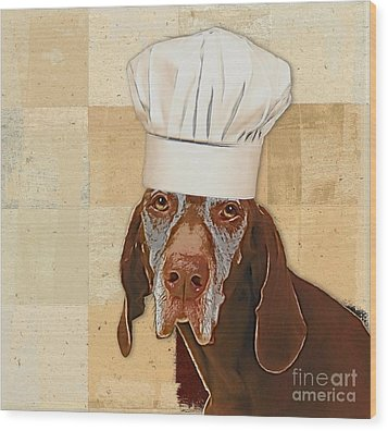 Dog Personalities 56 Chef Wood Print