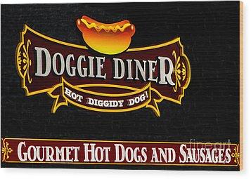 Doggie Diner Wood Print by Mitch Shindelbower