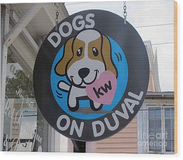 Wood Print featuring the photograph Dogs On Duval by Fiona Kennard