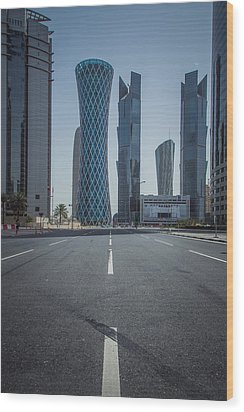Doha Road Wood Print by Charlie Tash