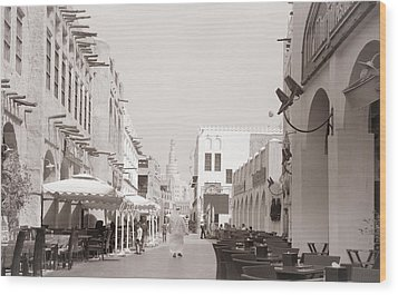 Doha Souq 2013 Wood Print by Paul Cowan