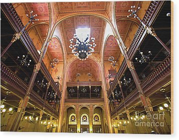 Dohany Synagogue In Budapest Wood Print by Madeline Ellis