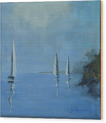 Wood Print featuring the painting Doldrums by Jo Appleby