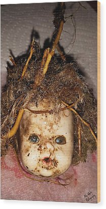 Doll Head Wood Print