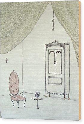 Doll House Interior Wood Print by Christine Corretti