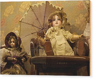Doll With Parasol Wood Print by Venetia Featherstone-Witty