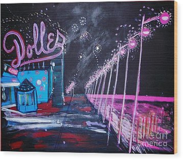 Dolles And Orion  Wood Print by Leslie Byrne