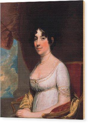 Dolley Payne Madison Wood Print by Gilbert Stuart