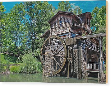 Wood Print featuring the photograph Dollywood  by Trace Kittrell