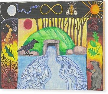 Dolmen Gateway Wood Print by Cat Athena Louise