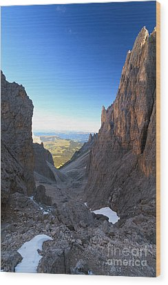 Wood Print featuring the photograph Dolomites At Morning by Antonio Scarpi