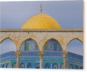 Dome Of The Rock Wood Print by Kobby Dagan