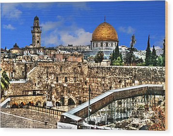 Wood Print featuring the photograph Dome Of The Rock by Doc Braham