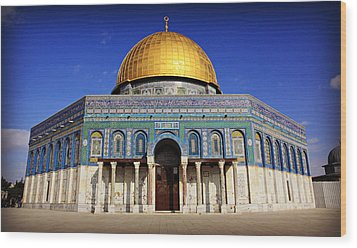 Dome Of The Rock Wood Print by Stephen Stookey