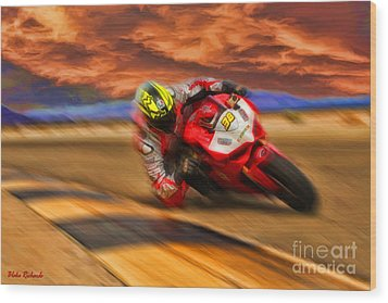 Domenic Caluori At Speed Wood Print