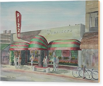 Domenicos In Long Beach Wood Print by Debbie Lewis