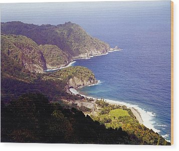 Dominica Coast Line Wood Print