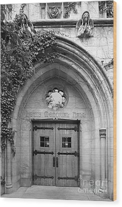 Dominican University Lewis Memorial Hall Wood Print by University Icons