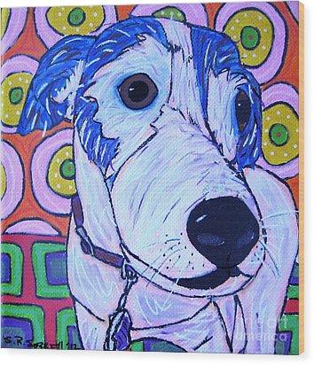 Domino Dog Wood Print by Susan Sorrell