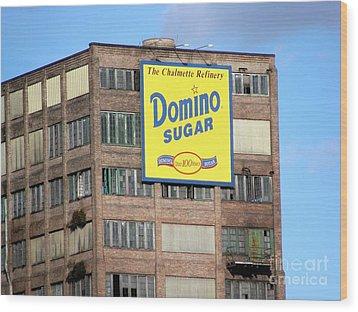 Domino Wood Print by Ed Weidman