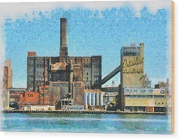 Domino Sugar New York Wood Print