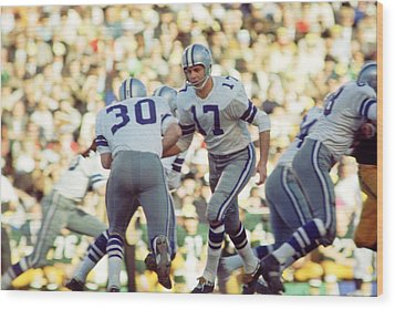 Don Meredith Hands Off Wood Print by Retro Images Archive