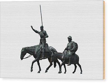 Wood Print featuring the photograph Don Quixote And Sancho Panza  by Fabrizio Troiani