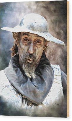 Don Quixote Wood Print