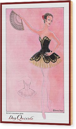 Don Quixote Tutu Wood Print