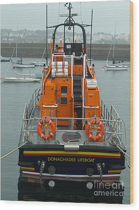 Donaghadee Rescue Lifeboat Wood Print by Brenda Brown