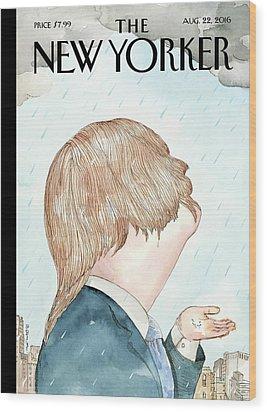 Donald's Rainy Days Wood Print by Barry Blit