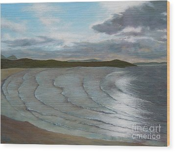 Donegal's Shimmering Sea Wood Print