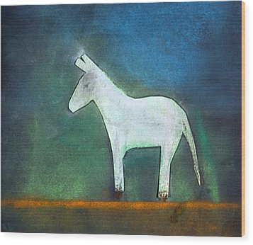 Donkey, 2011 Oil On Canvas Wood Print by Roya Salari
