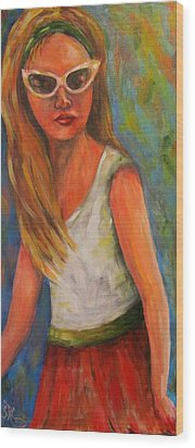 Don't I Know You? Girl Wood Print
